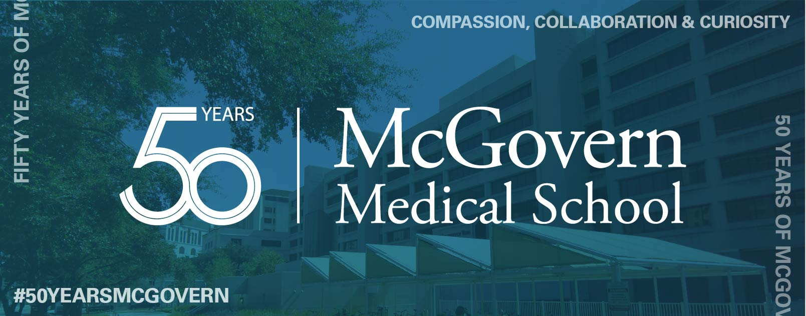 50 Years at McGovern medical school banner
