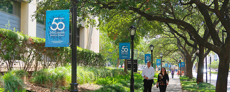 Outside Banners at McGovern Medical School