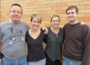Rebecca with parents and siblings