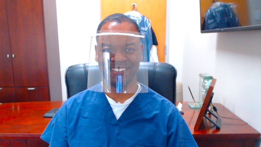 image from DIY 3-D Face Shields Address PPE Shortages for OR Anesthesia Teams