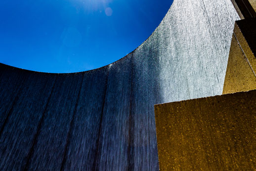 Williams Water Wall in the Galleria