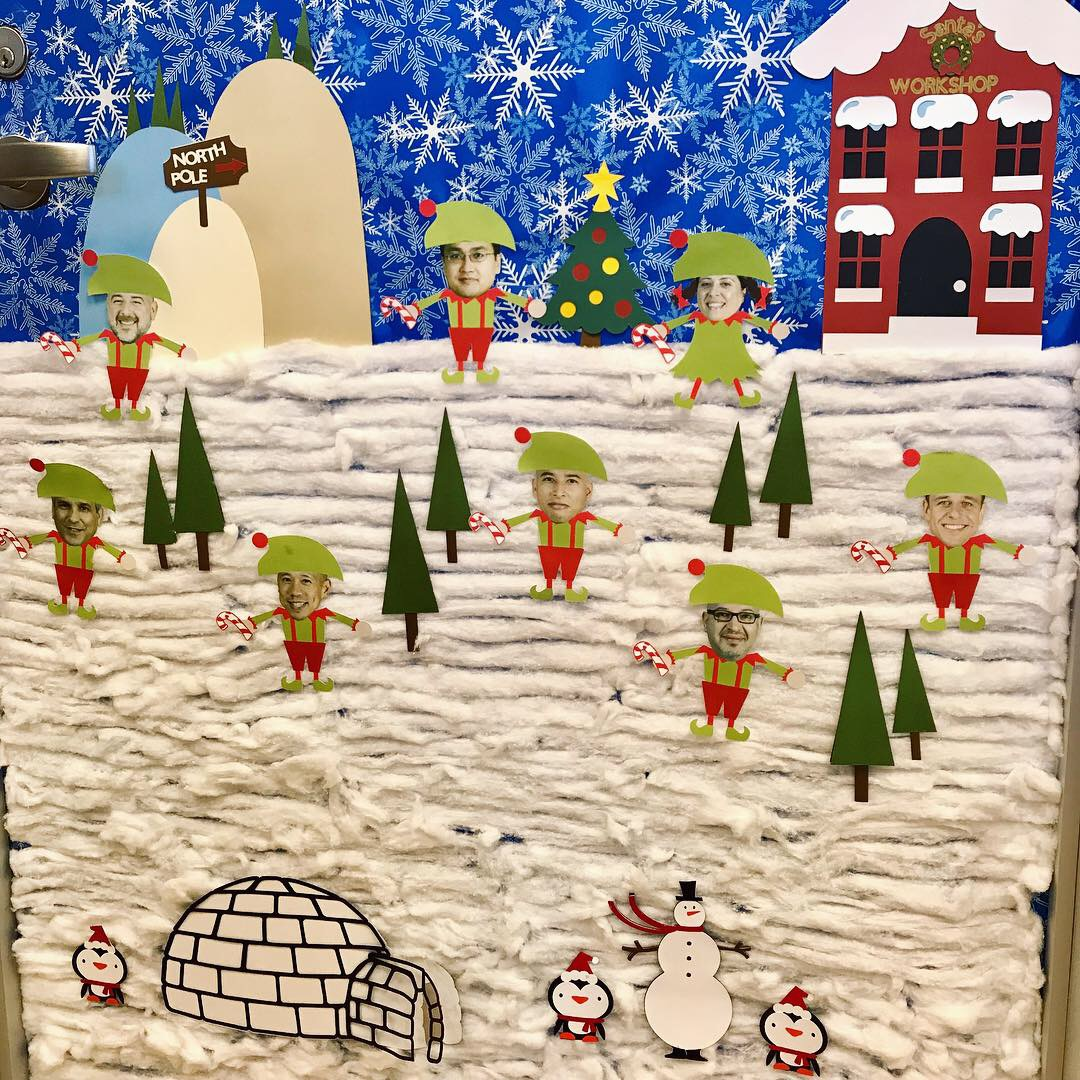 image from Second Place for TMC Holiday Door Decor!