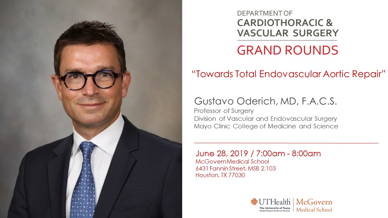 "image from Grand Rounds, Special Guest, Mayo Clinic's Gustavo Oderich, MD on ""Towards Total Endovascular Aortic Repair"""