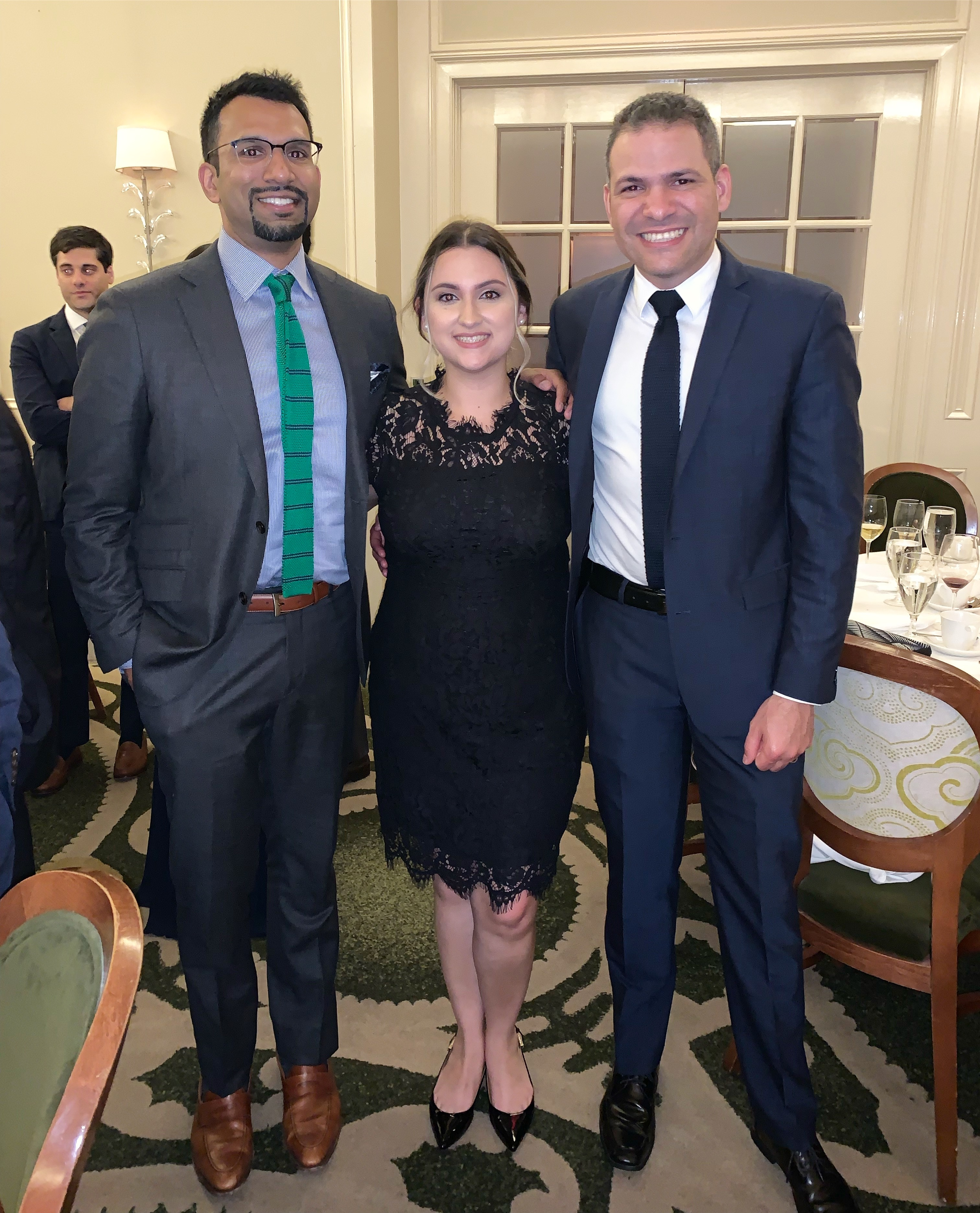 Ravi Rajaram, MD (left), Educational Coordinator Pearl Adams (center), and Juan Abreu, MD (right)