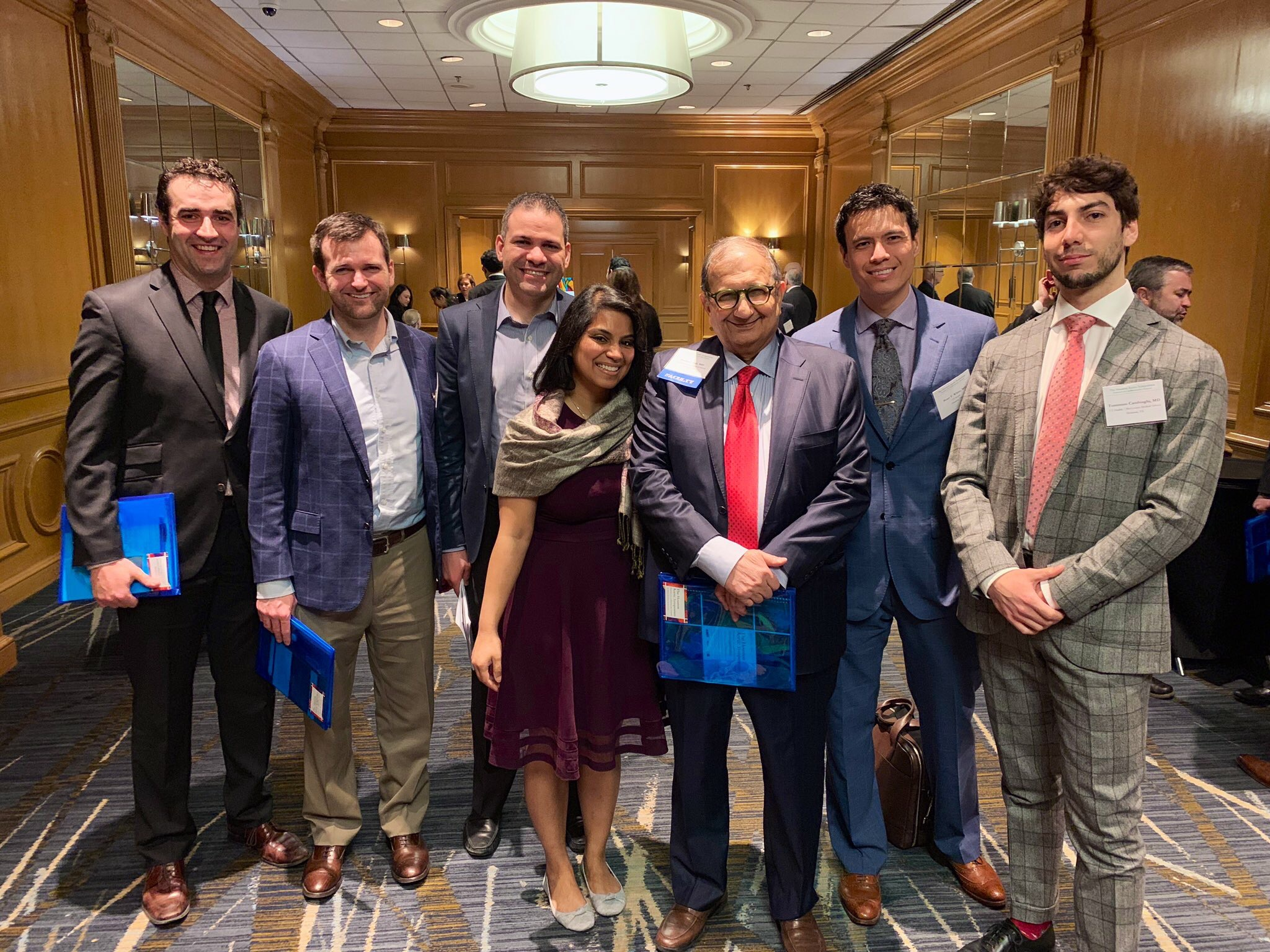 Hazim Safi with 2019 residents & fellows