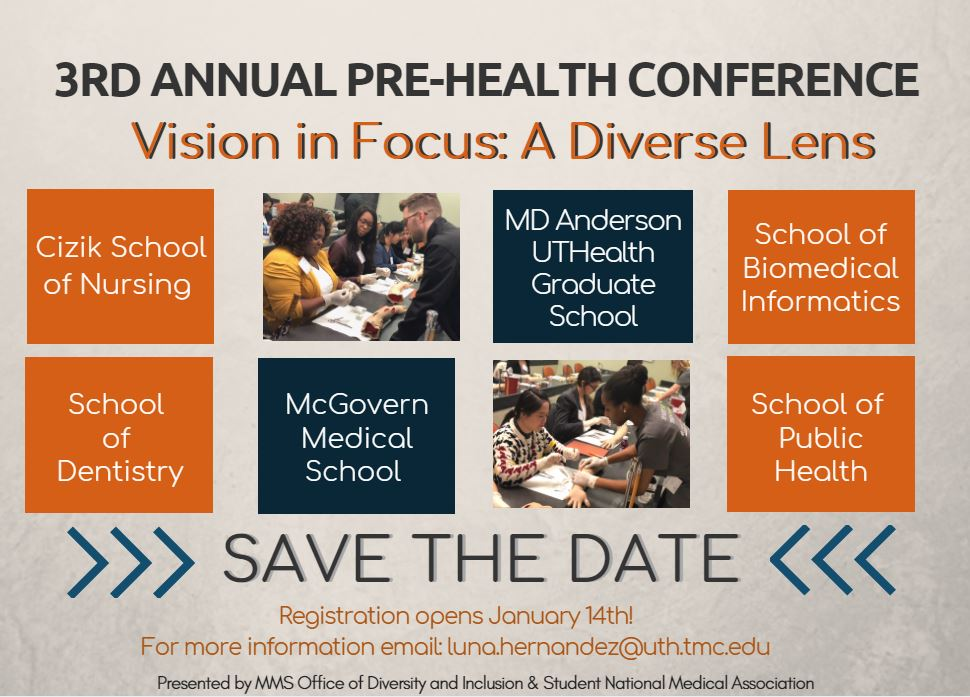 Pre Health Professions Conference At Mcgovern Medical School