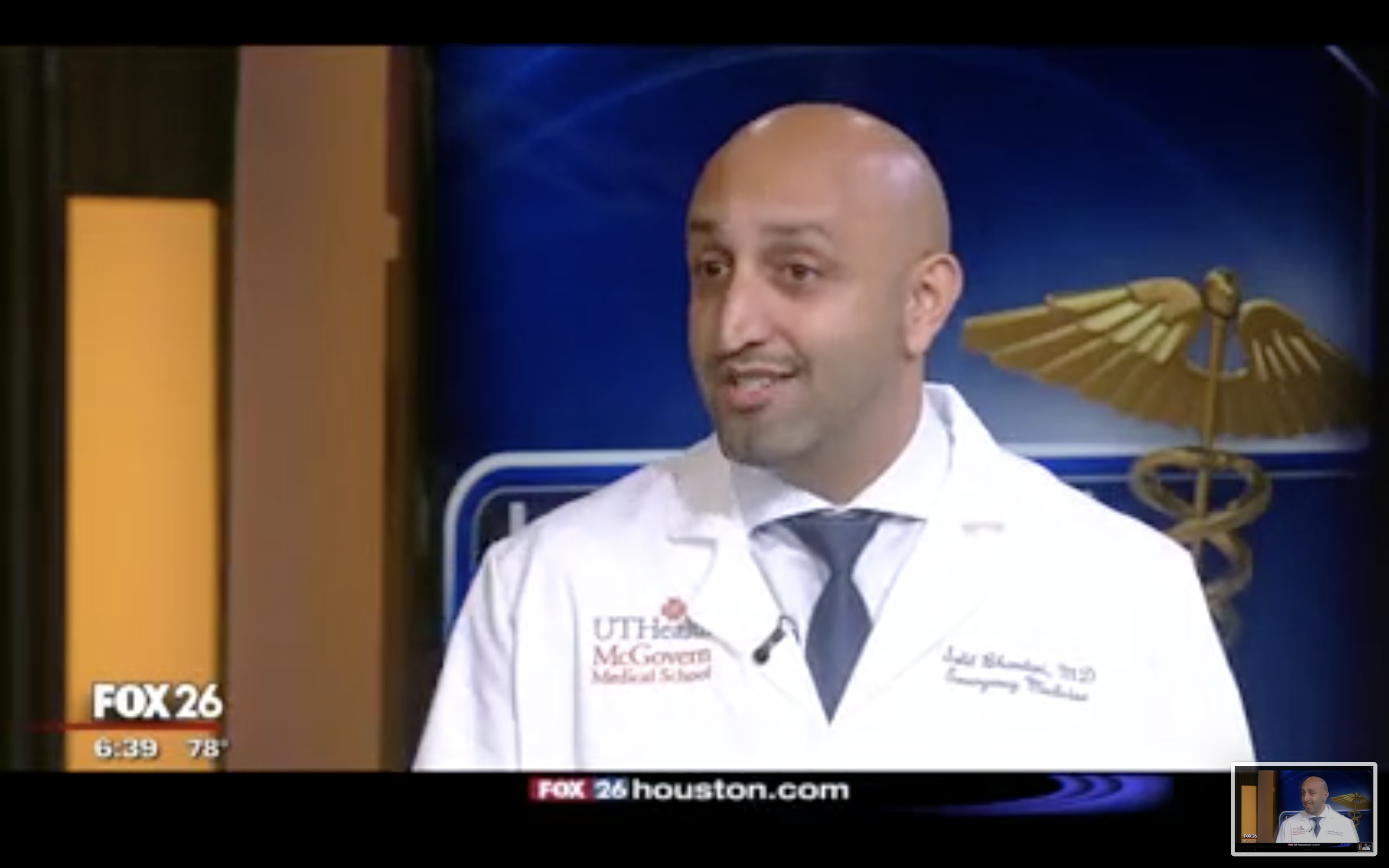 Dr. Bhandari talking about Walk with a Doc
