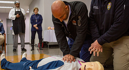 Training on performing CPR