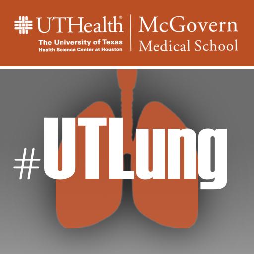 Image of Instagram #UTLung UTHealth McGovern Medical School Social Media Logo