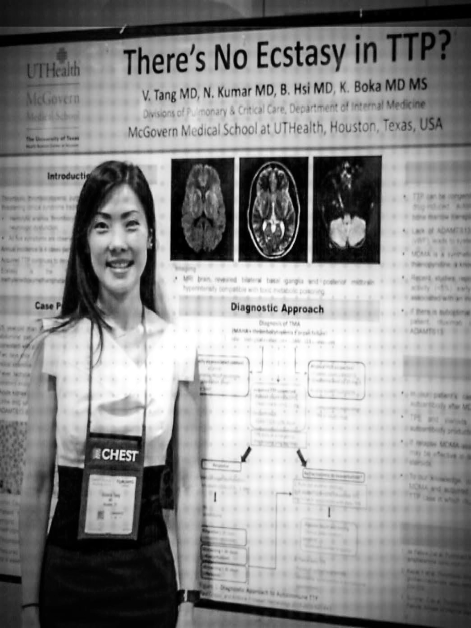 Image of Dr. Victoria Tang presenting at 2017 CHEST conference