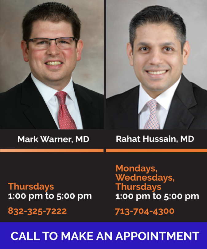 Composite of Pulmonary COPD Clinic Hours & Photo Listing. Individual photos by Dwight C Andrews Office of Communications at UTHealth | Composite created by Kamran Boka, MD.