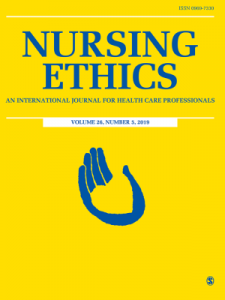 Nursing Ethics journal cover