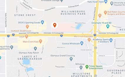 Map to UTHealth Neurosciences in Katy Texas