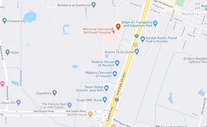 Map to UTHealth Neurosciences Northeast in Humble and Kingwood