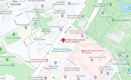 Map of UTHealth Neurosciences Childrens Neurscience Center