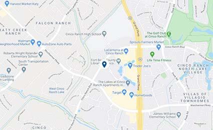 Map of UT Neurology Cinco Ranch