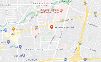 UTHealth Neurosciences neuropsychology clinic map