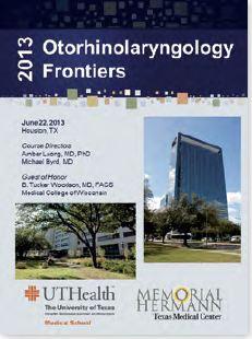 Otorhinolaryngology Frontiers 2013 announcement