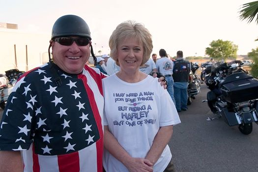 Sandra Butcher and her husband, Larry