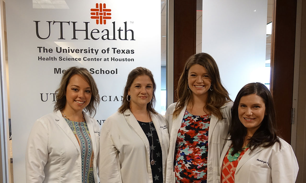 <strong>Audiology team:</strong> (left to right), Taylor Remick, Au.D.; Kym Miller, Au.D.; N. Caryn McLellan, Au.D.; and M. Mackenzie Hill, Au.D.