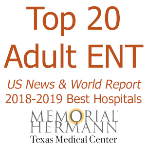 image from Memorial Hermann-Texas Medical Center Ranked Among the Top 20 Nationally in Adult ENT Care by US News & World Report