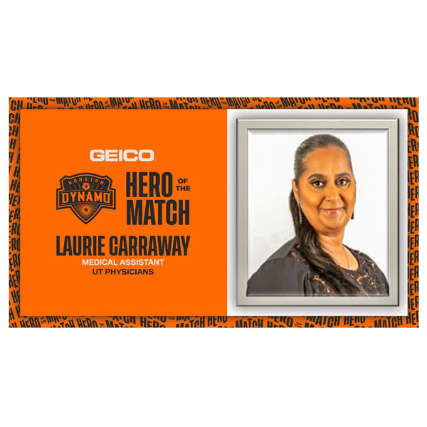 image from ORL Staff Member Laurie Carraway Named Houston Dynamo Hero of the Match