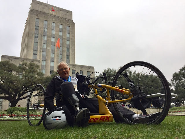 image from Nothing discourages this unstoppable marathoner on wheels