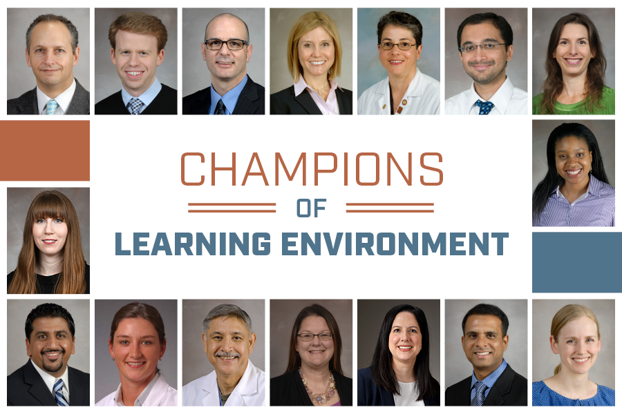 image from Pediatric faculty members named inaugural Champions of Learning Environment
