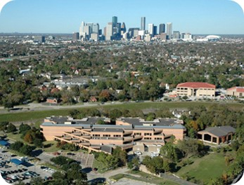 aerial view of UTHealth HCPC