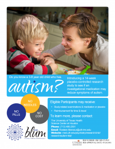 image from Researchers recruiting children with autism