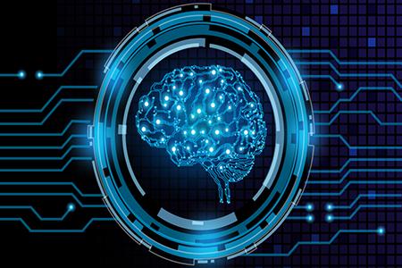 close up of digital, 3d rendering of brain