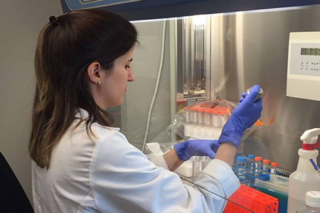 scientist testing in lab
