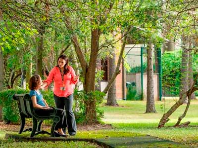 park like green space at UTHealth HCPC