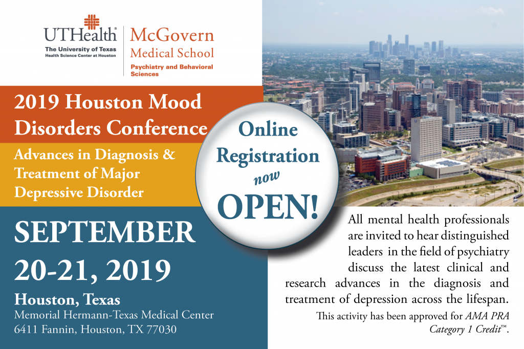 2019 Houston Mood Disorders Conference | McGovern Medical School