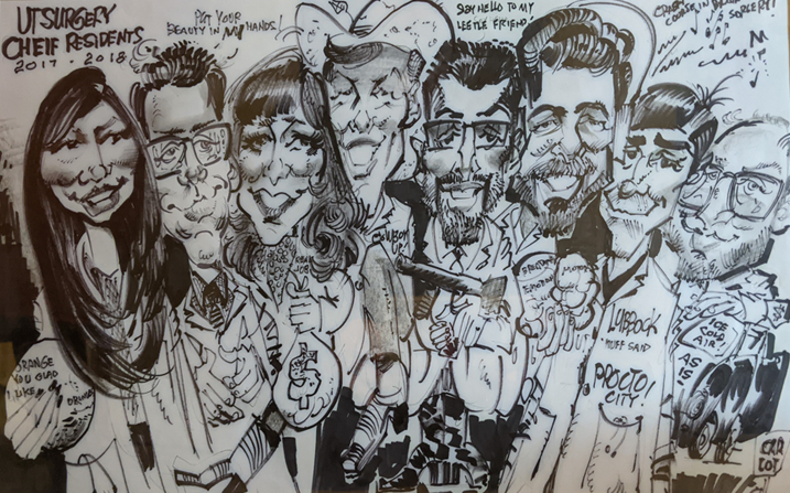 Chief Residents Caricature 2017-2018