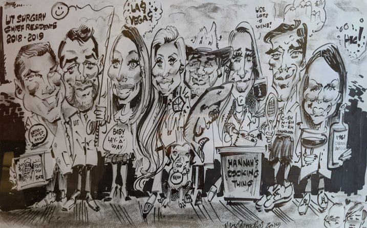 Chief Residents Caricature 2018-2019