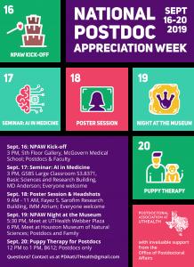 Flyer for National Postdoc Awareness Week
