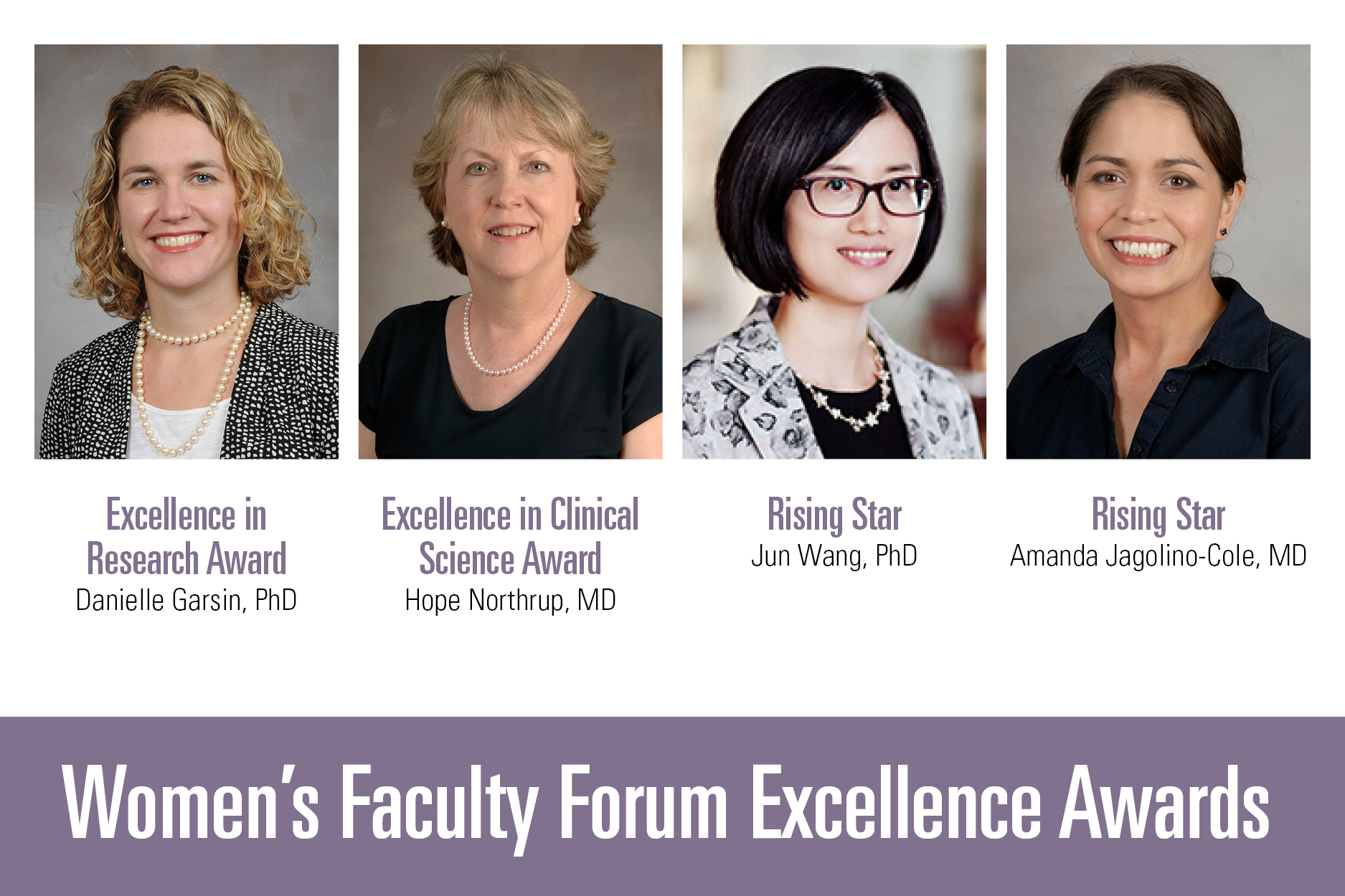 image from Four earn Women's Faculty Forum Excellence Awards
