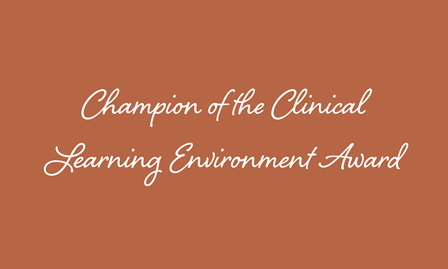 Champions of Clinical Learning Environment
